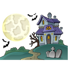 Haunted house theme image 1 vector