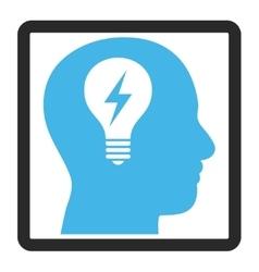 Head Bulb Framed Icon vector