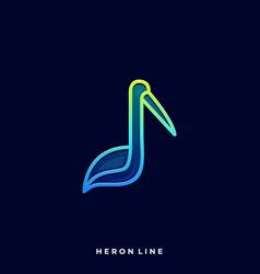heron bird template vector image