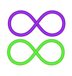 Infinity eternity symbol vector