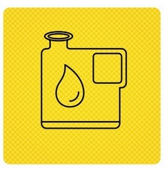 Jerrycan icon Petrol fuel can with drop sign vector image