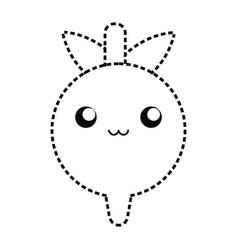 kawaii radish vector image