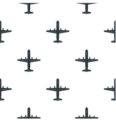 Large aircraft with missiles pattern flat vector