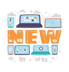 latest new technologies flat vector image