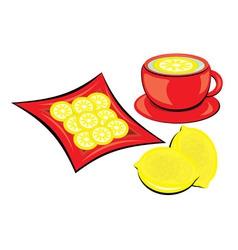 Lemon tea vector