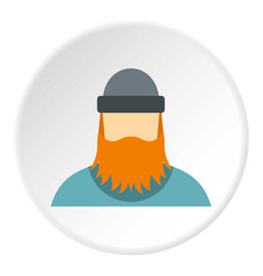 lumberjack icon circle vector image