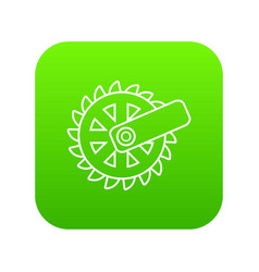 mining cutting wheel icon green vector image