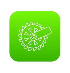 mining cutting wheel icon green vector image