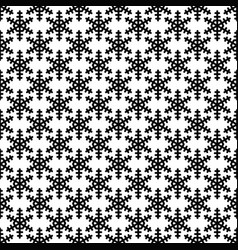 monochrome repeating geometrical snowflake vector image