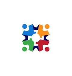 People gear cog cogs logo icon vector