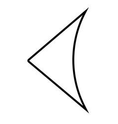 previous arrow icon vector image