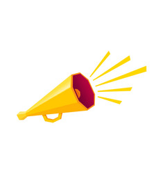 Retro yellow megaphone vector