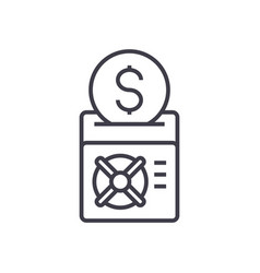 save your money line icon sign vector image