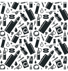 Seamless pattern of vaporizer and accessories vector image