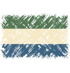 Sierra Leone grunge flag vector image