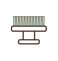 small massage brush for cosmetic means application vector image