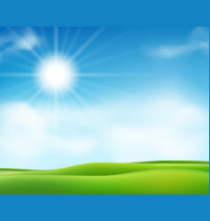 summer or spring sunny morning background vector image
