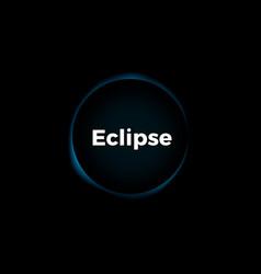 Sun eclipse background vector