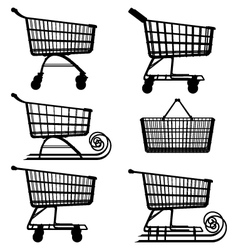 Supermarket Cart Pictogram vector image