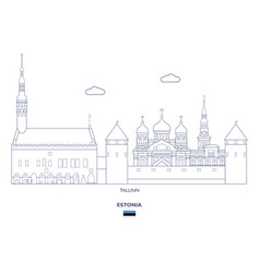tallinn city skyline vector image