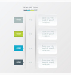 timeline template green blue gray color vector image