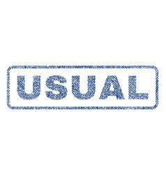 Usual textile stamp vector