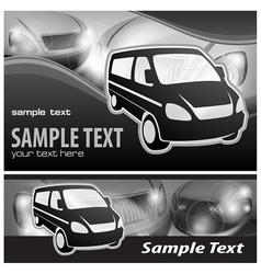 Van background vector image vector image
