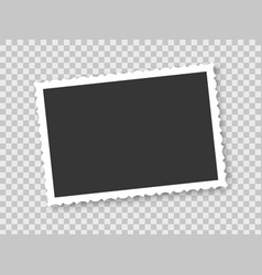 vintage photo frame on transparent background vector image