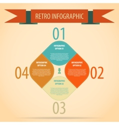 Vintage retro infographics options banner vector