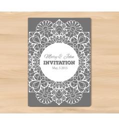 Wedding invitation card template vector image