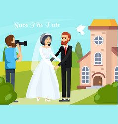 wedding people orthogonal composition vector image