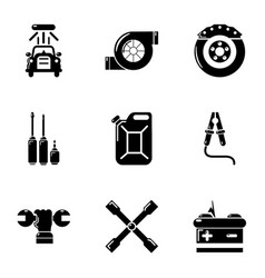 workroom icons set simple style vector image