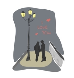 Young couple in love vector