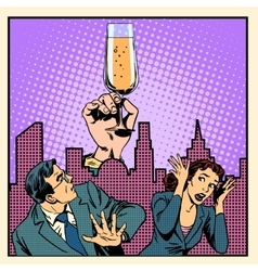 Anonymous alcoholics struggle with alcohol vector image vector image