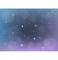 christmas background with bokeh and snowflakes vector image