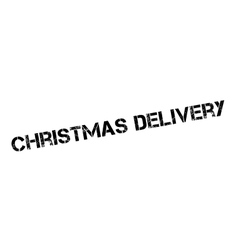 Christmas delivery rubber stamp vector