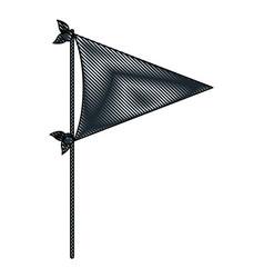 crayon silhouette of black color decorative flag vector image vector image