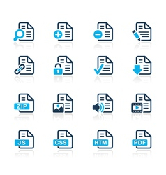 Documents Icons 1 Azure Series vector image