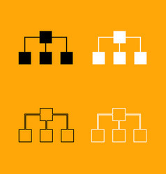 network black and white set icon vector image vector image