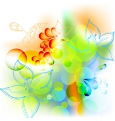 spring summer floral mix vector image vector image