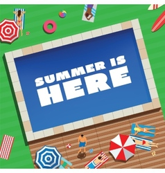 Summer is Here Abstract Background or Card People vector image