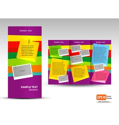 Brochure Tri-fold Layout Design Template note vector image