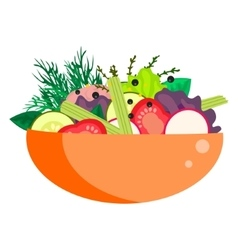 Healthy vegetable summer salad bowl vector image vector image