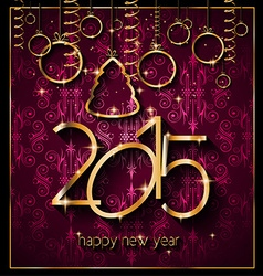 2015 New Years Party Flyer design for nigh clubs vector image