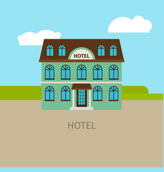 colored urban hotel building vector image