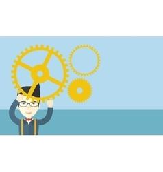 Japanese businessman wearing glasses vector image vector image