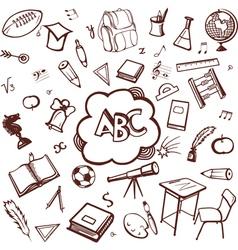 School accessories vector image vector image