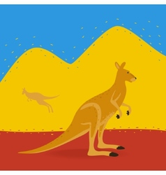 Australian Kangaroo Outdoors vector image