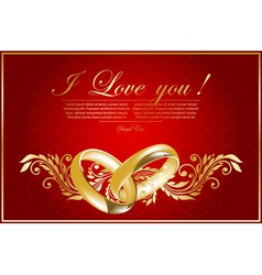 floral valentine card vector image vector image