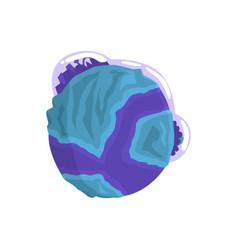 mercury planet of the solar system cartoon vector image vector image